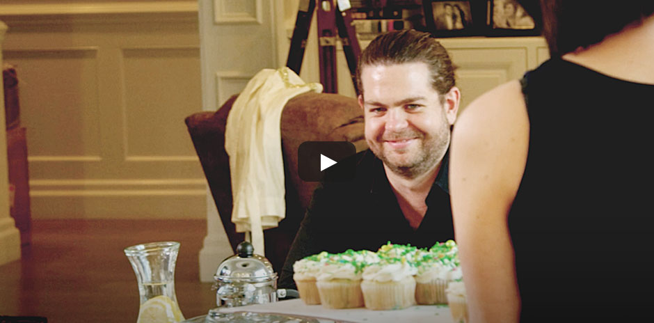 Jack Osbourne and Lisa Osbourne baking