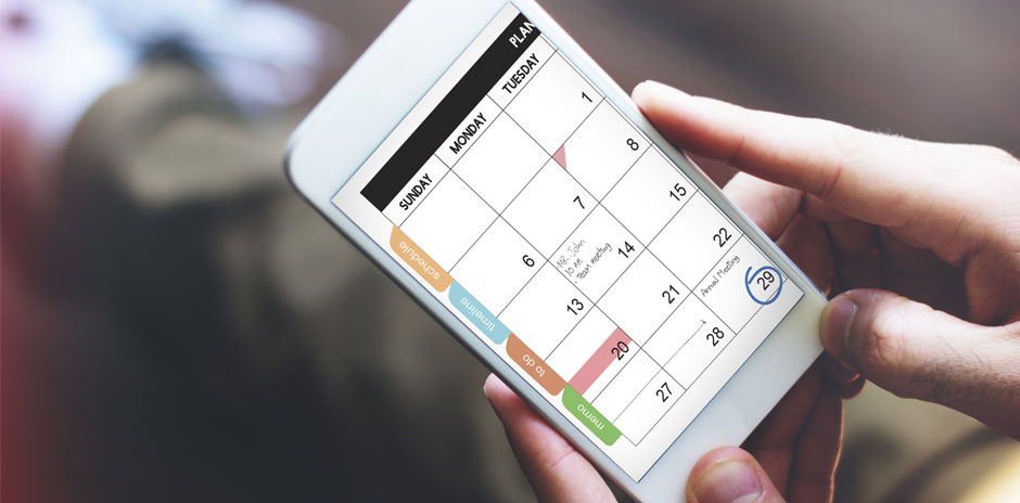 a calendar cellphone