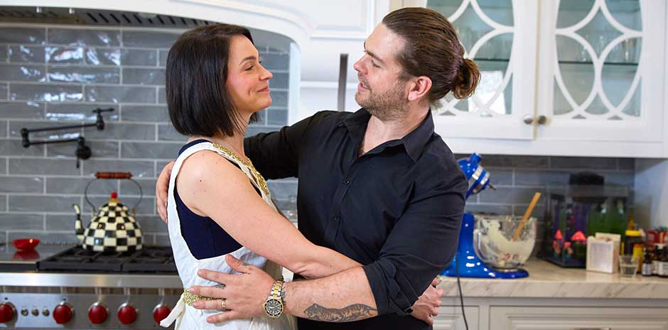 Lisa Osbourne and Jack Osbourne